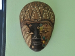 Mini Double with Window: Indonesian Mask on Wall