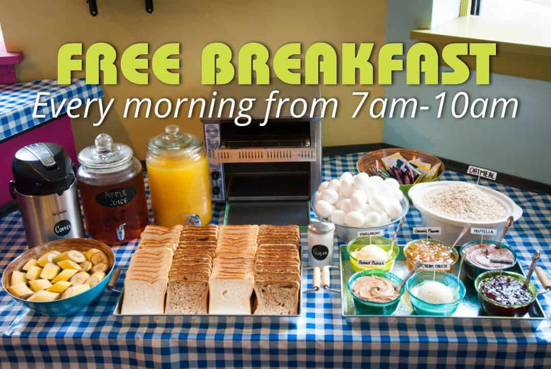 free-breakfast-7am-10am