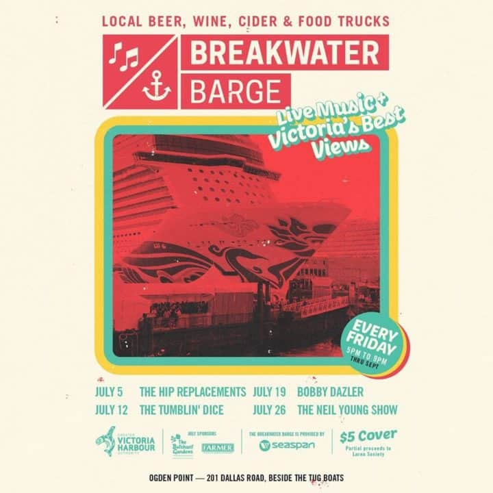 Breakwater Barge - Live Music & Victoria's Best Views