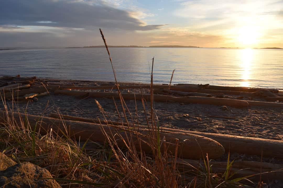Sunrise at Willows Beach, Victoria.