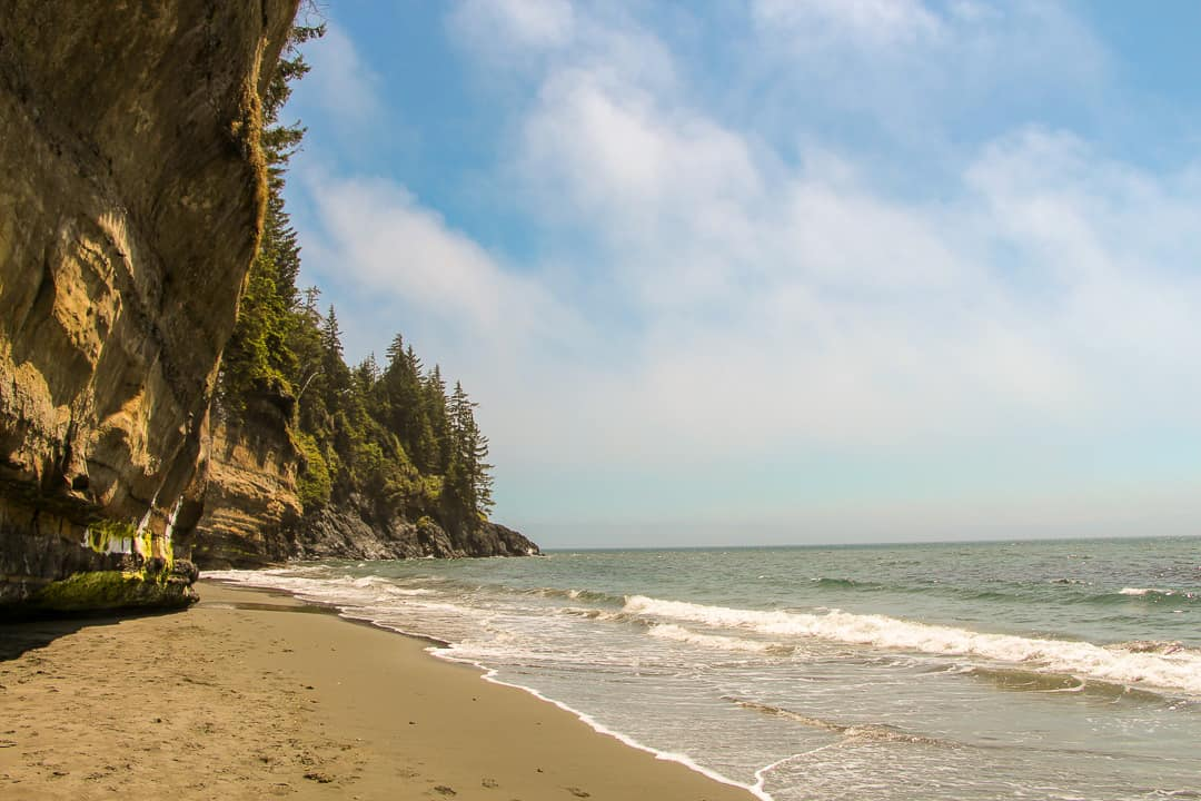 Relaxing day at Mystic Beach, Vancouver Island.