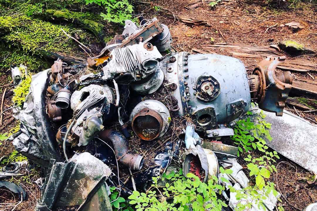 A glimpse of the Mount Bolduc Ventura Crash Site.